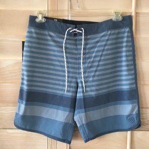 Hang Ten Board Shorts Blue Stripe NWT Sz 32